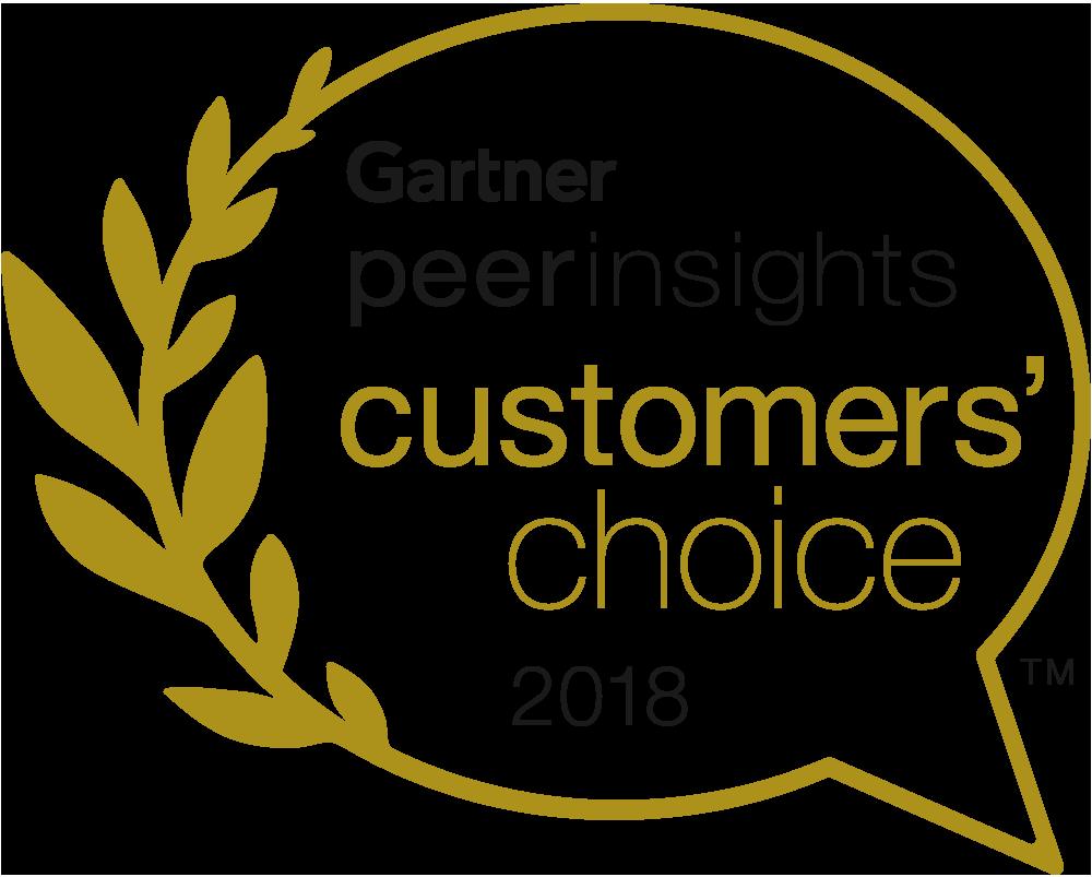 Gartner peer insights customers' choice (2018 年) のロゴ