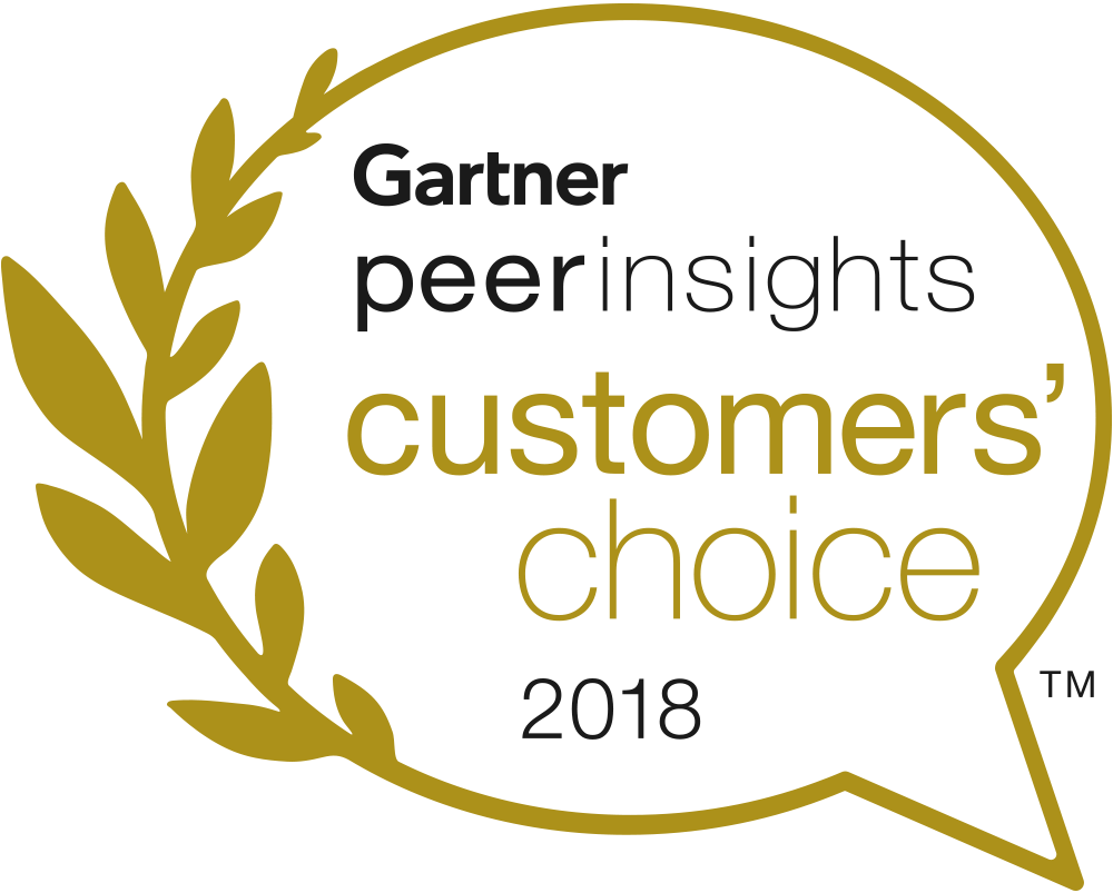 Logotipo da escolha dos clientes 2018 da Gartner peer insights