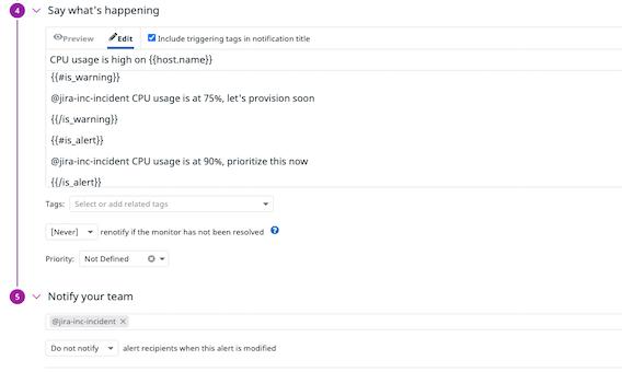 Automatically create Jira tickets with Datadog monitors