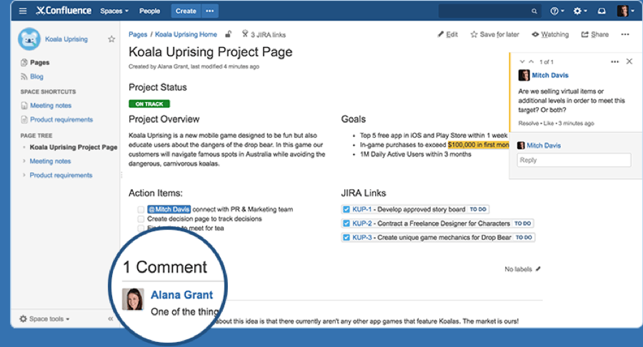 project-management-software-confluence-page-comment-screenshot