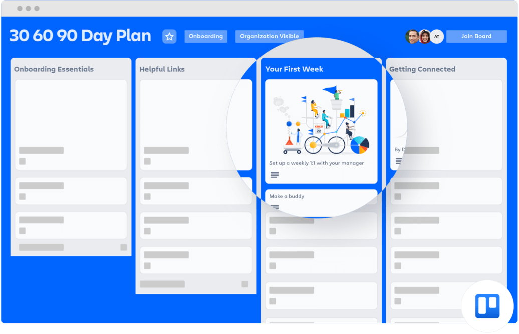 Trello 90 day plan board