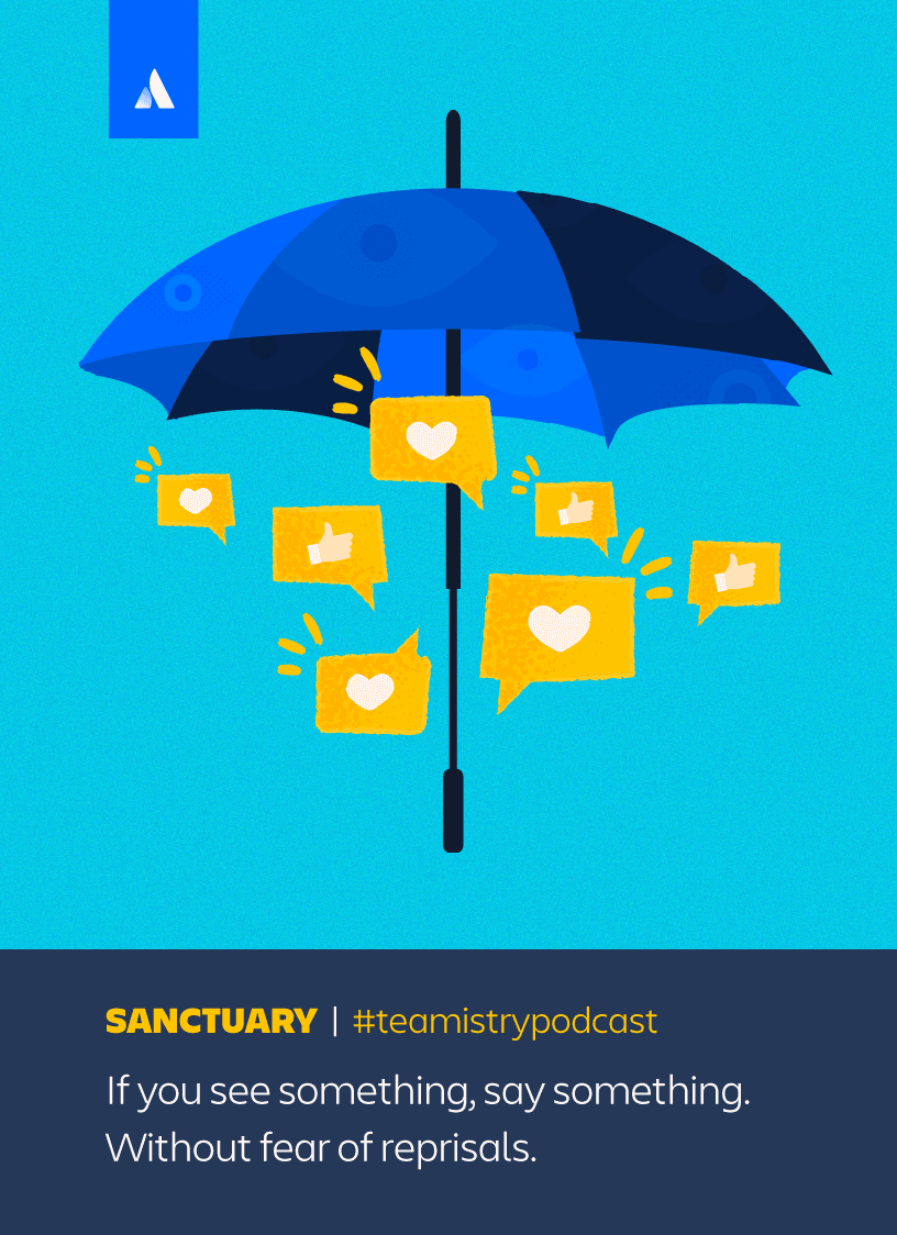 Umbrella with hearts illustration