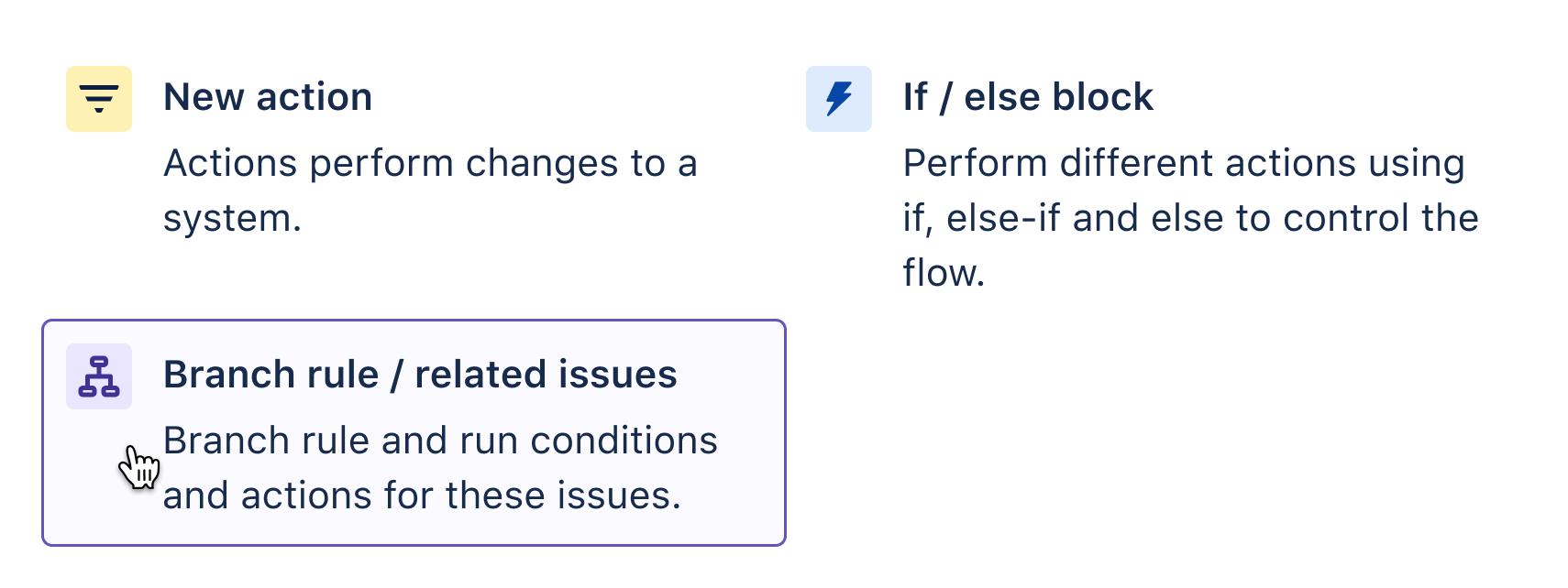 Aggiunta di una regola Branch/ticket correlati