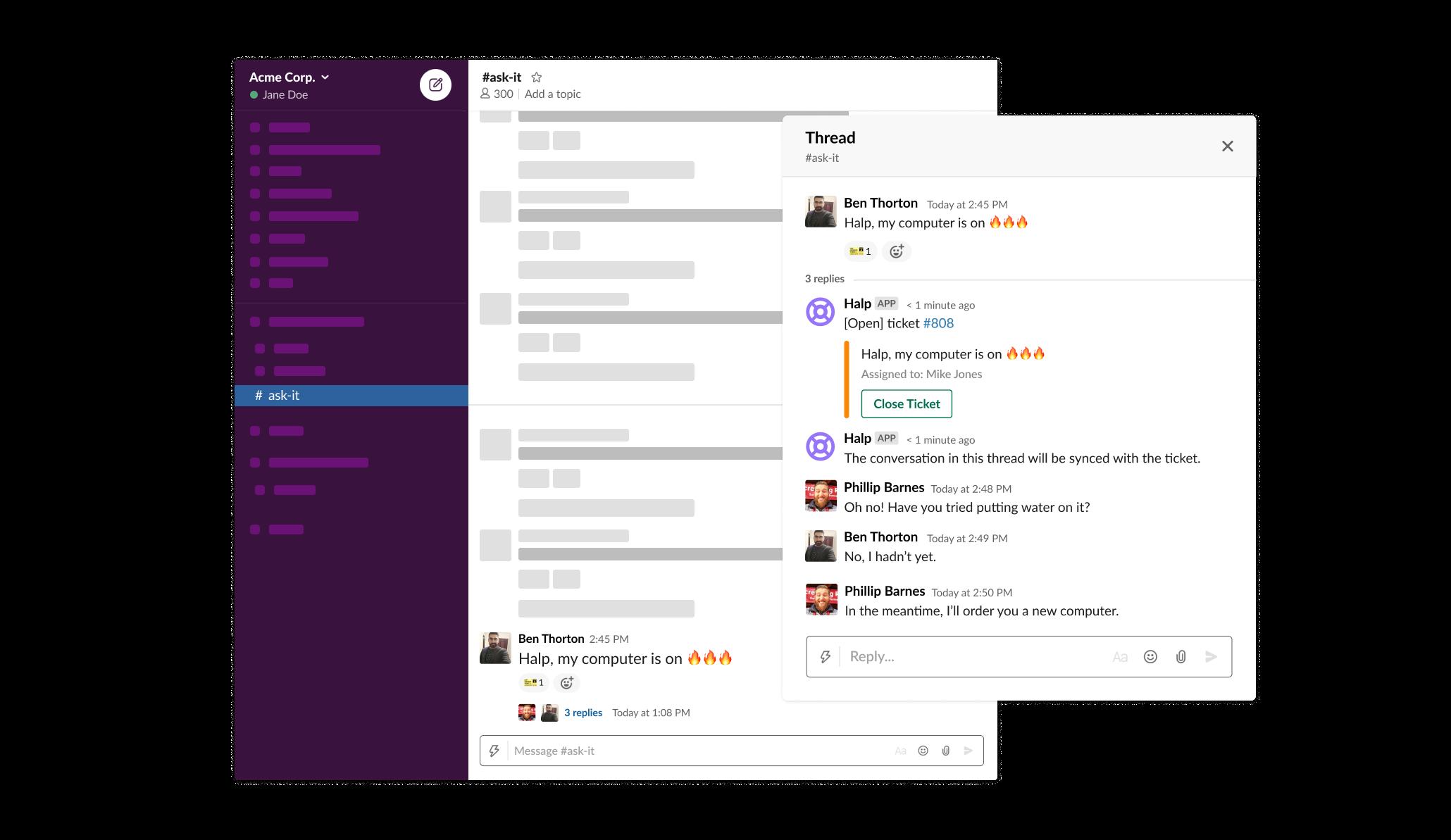 Integración de Halp en Slack