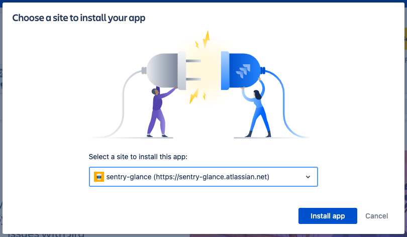 Choose a site to install your app