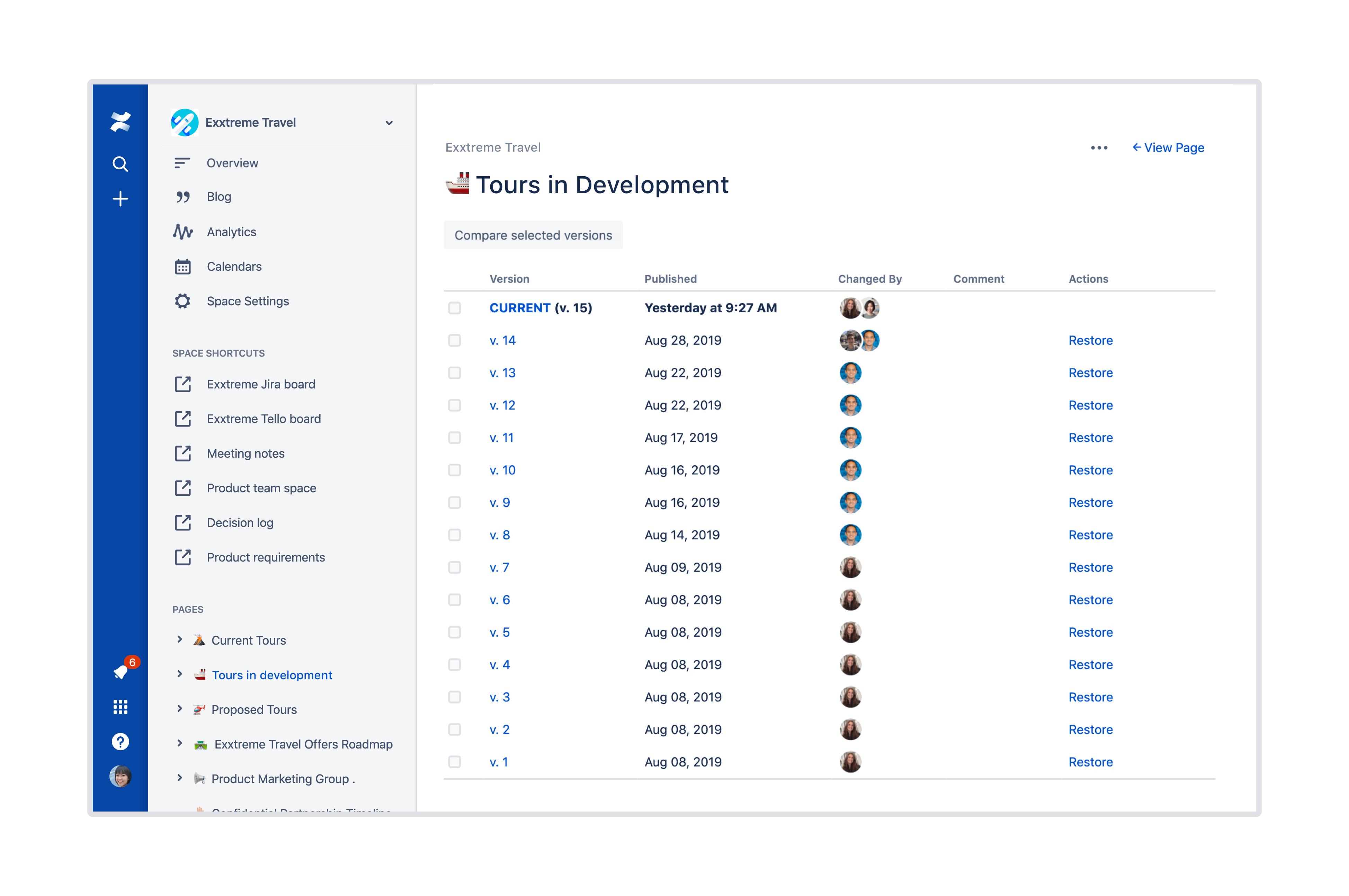 Структурированное дерево страниц