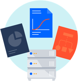 Data center with documents