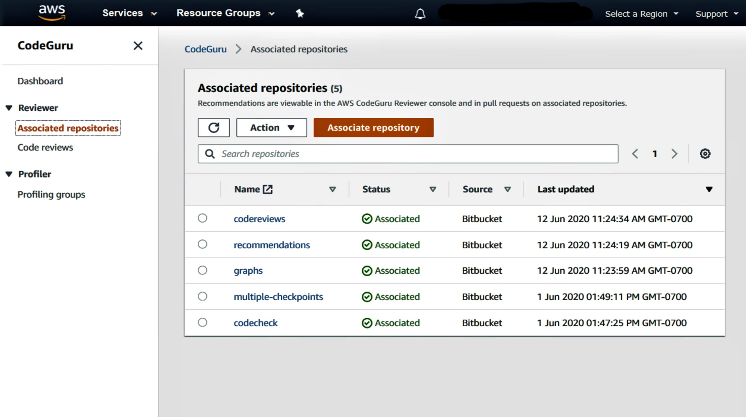 aws association repositories