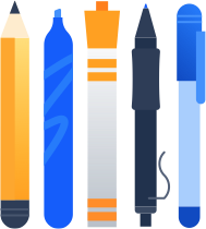 Writing instruments illustration