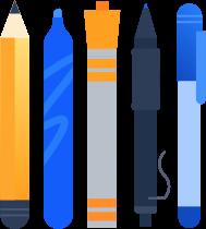 Writing tools illustration