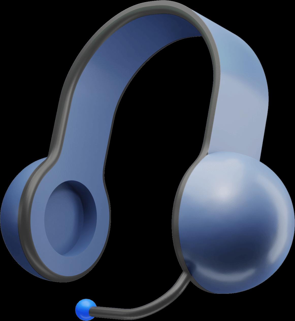 Ilustração dos fones de ouvido