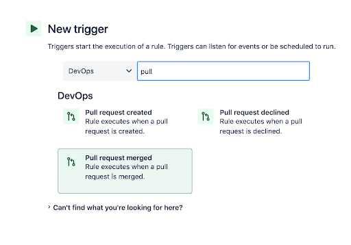 Step 2 in adding an automation using Jira