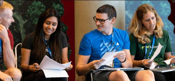 Atlassians collaborating