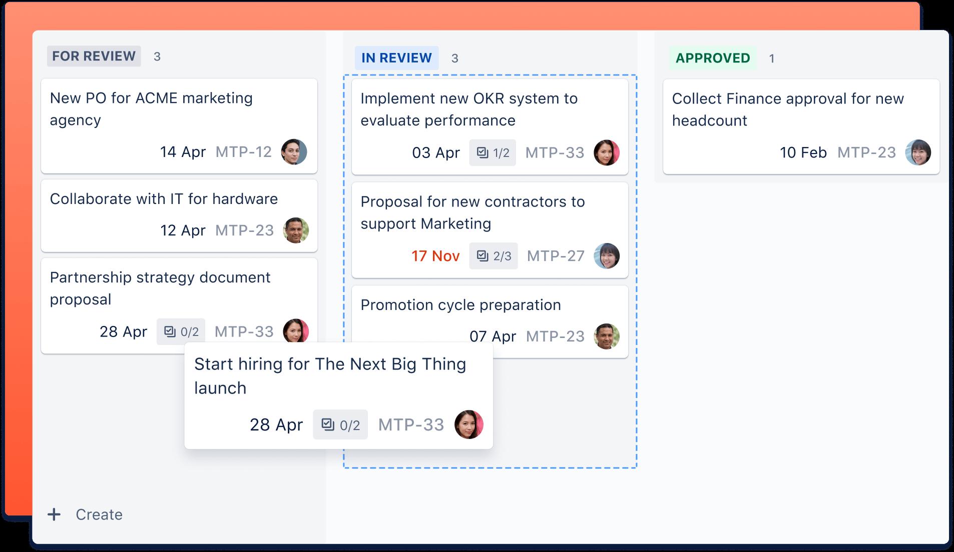 Jira board screenshot
