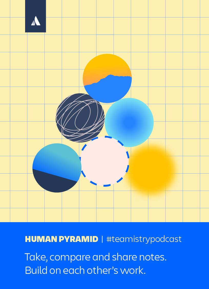 Human pyramid illustration