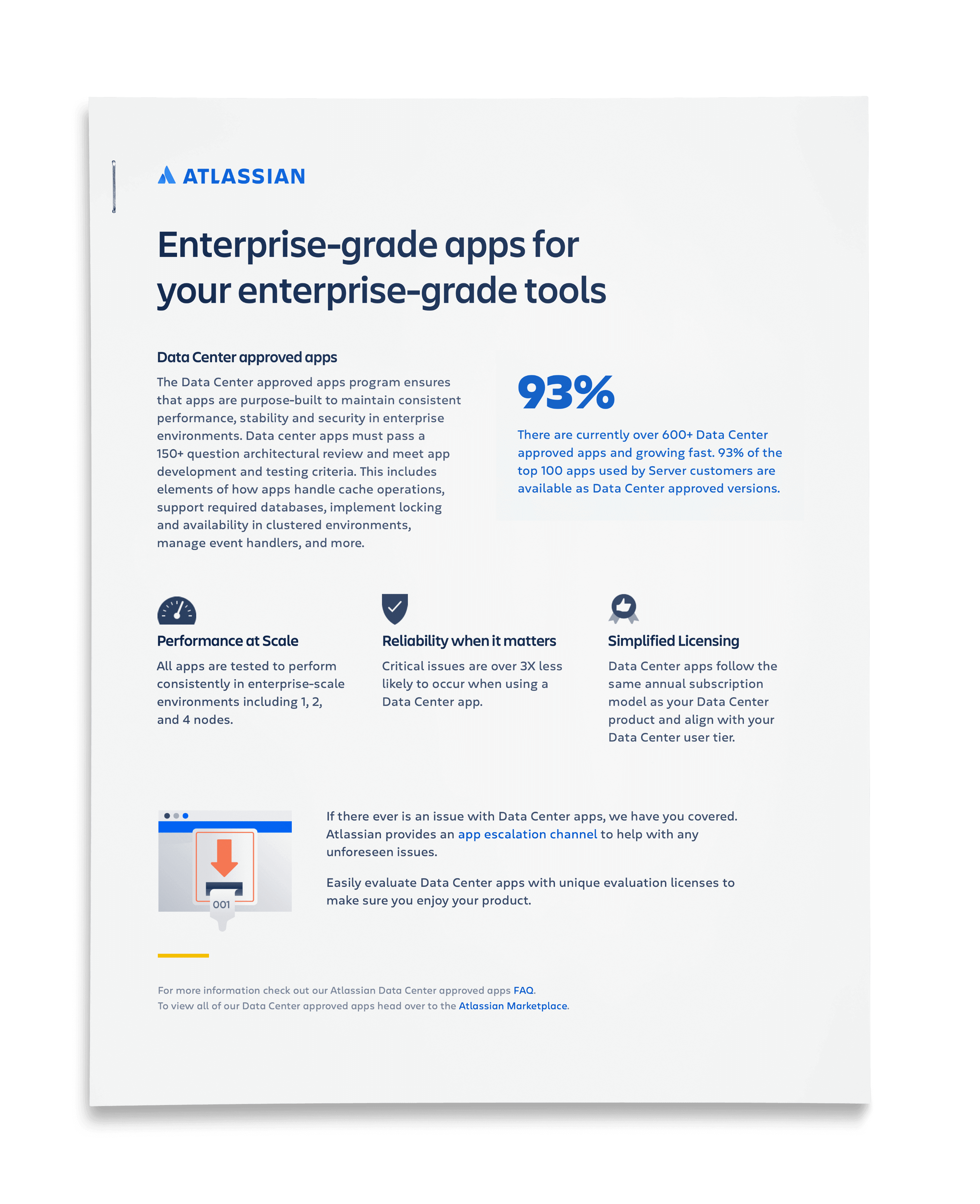 Enterprise-grade apps for your enterprise-grade tools one pager