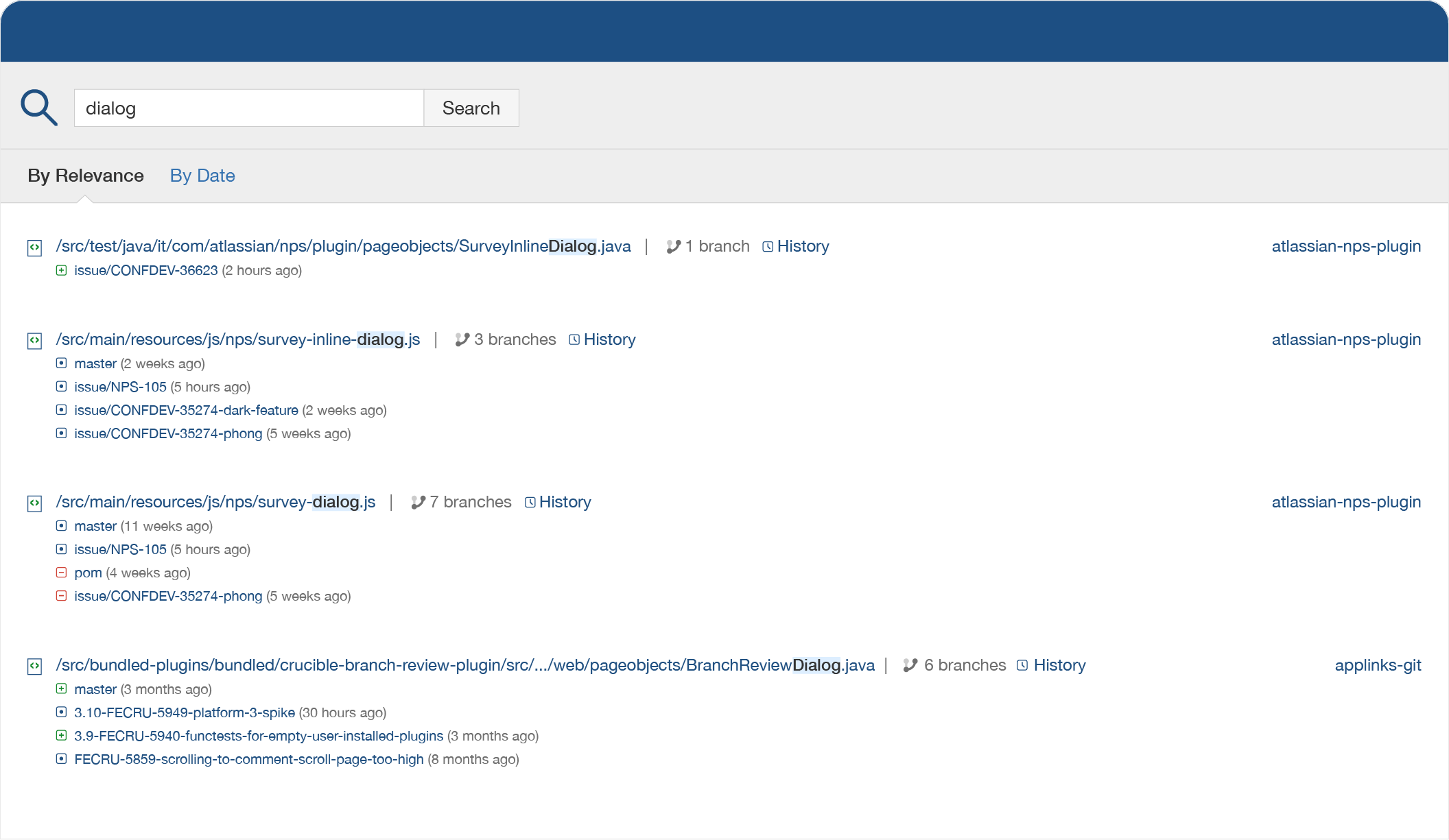 Поиск по коду Fisheye
