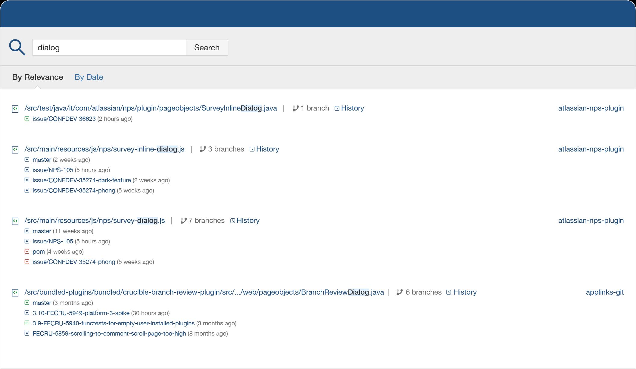 Fisheye — wyszukiwanie