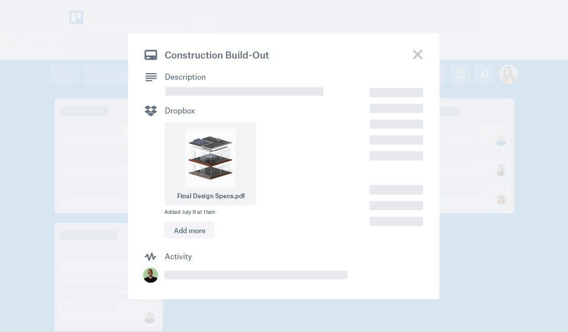 Adicione do Dropbox no Trello