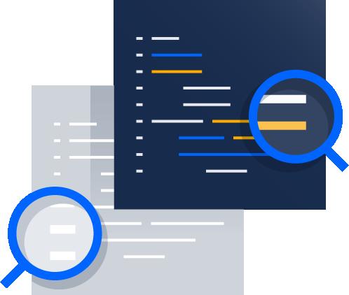 Ilustração de revisão de código