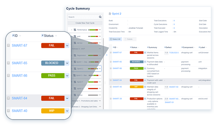 Agile team testing with Zephyr Squad for Jira integration