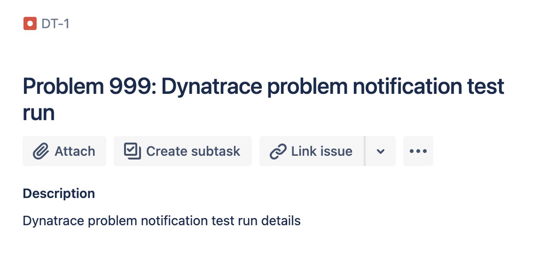 Dynatrace problem notification test run