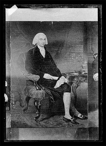 Portrait of James Madison sitting down