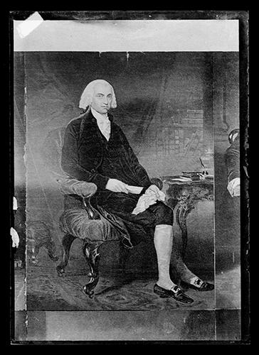 Portrait of James Madison sitting down