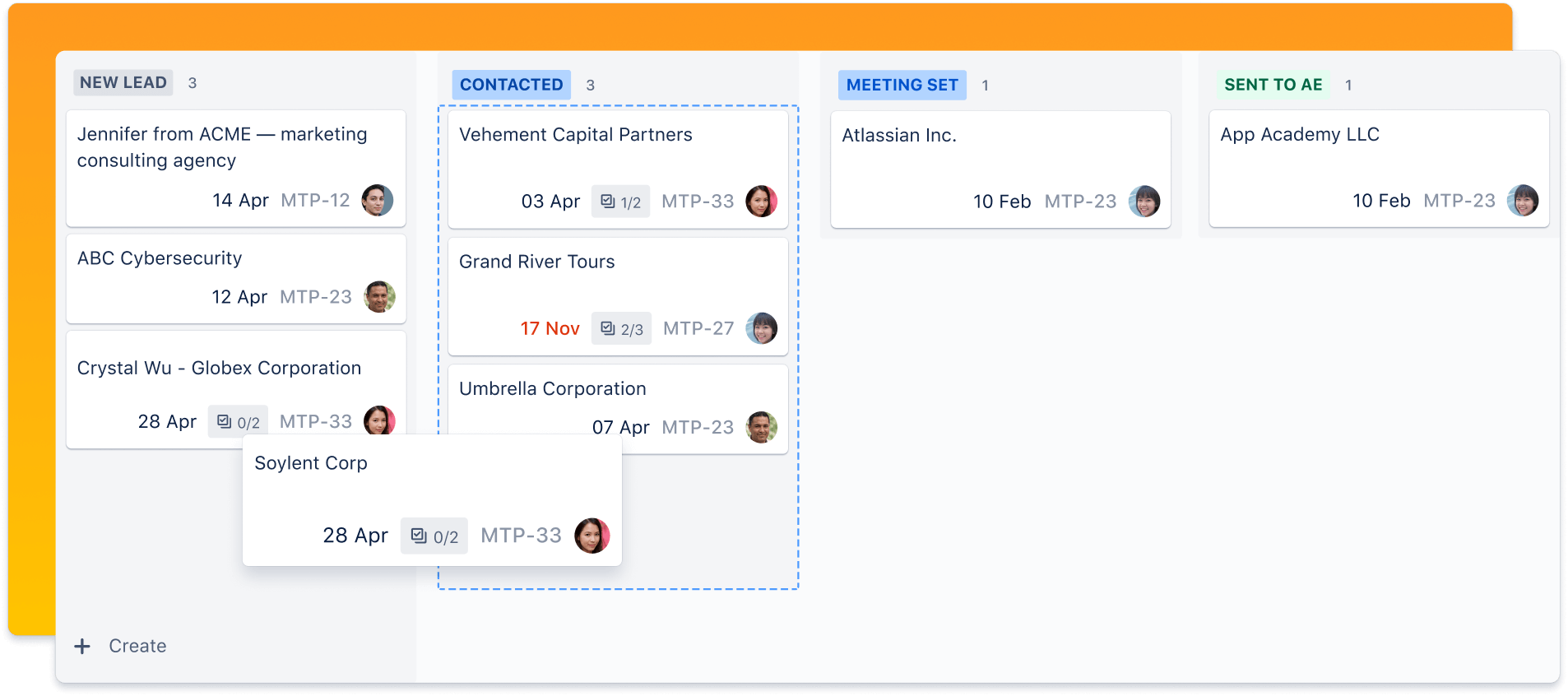 Jira board screenshot