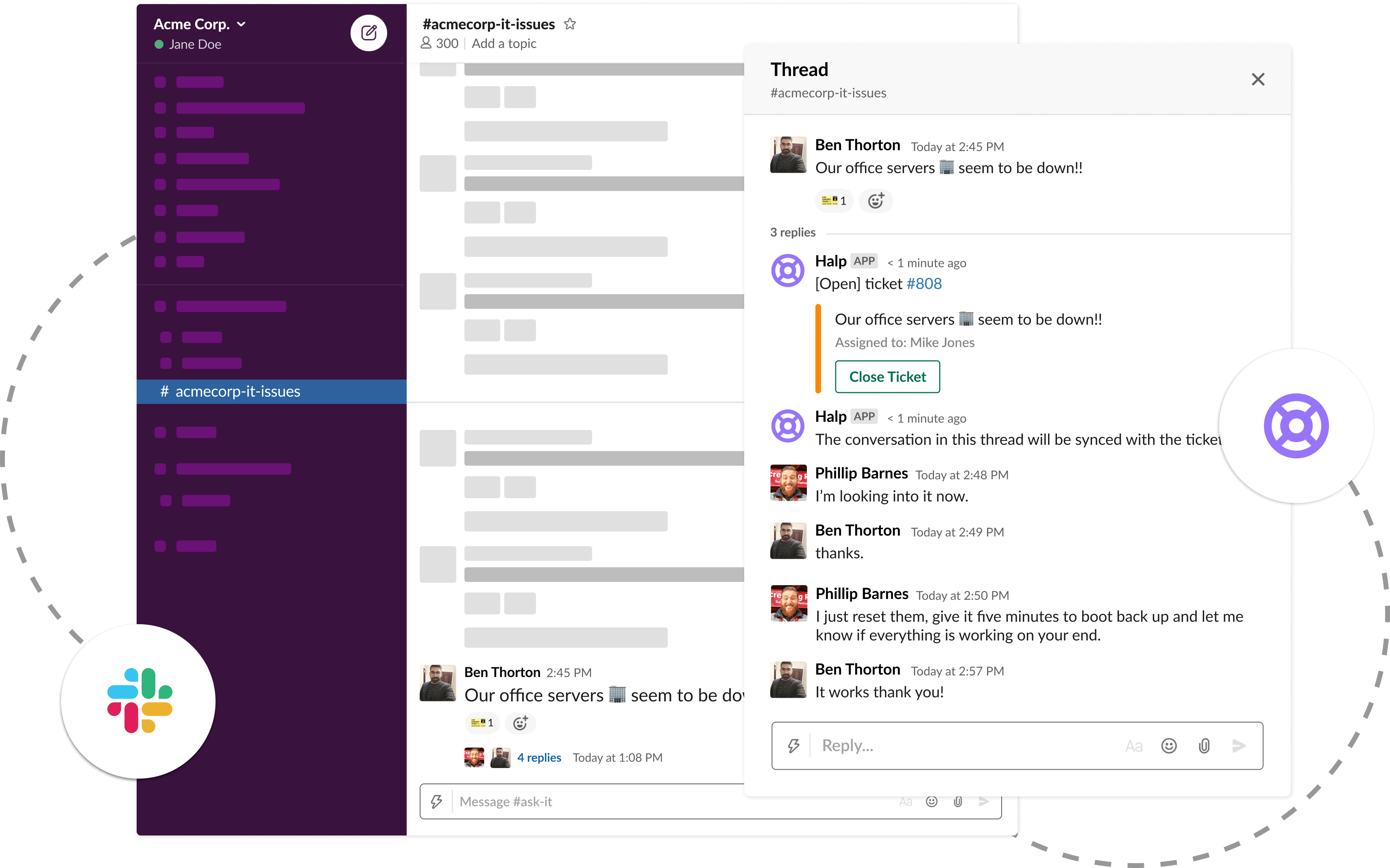 Slack-first ticketing for growing MSPs