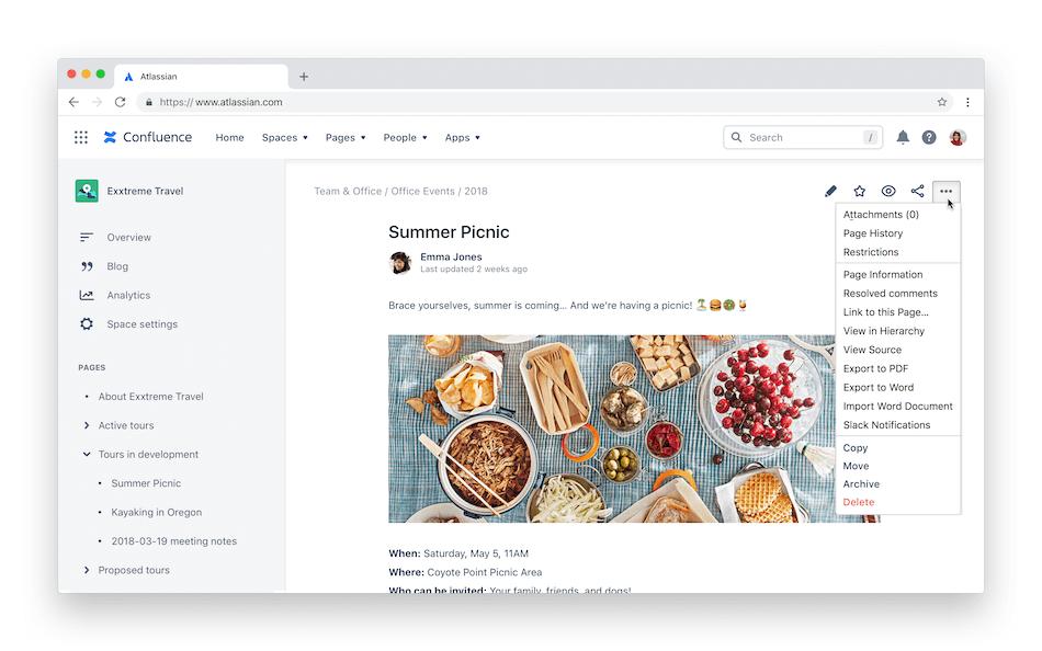 Capture d'écran de l'archivage de page