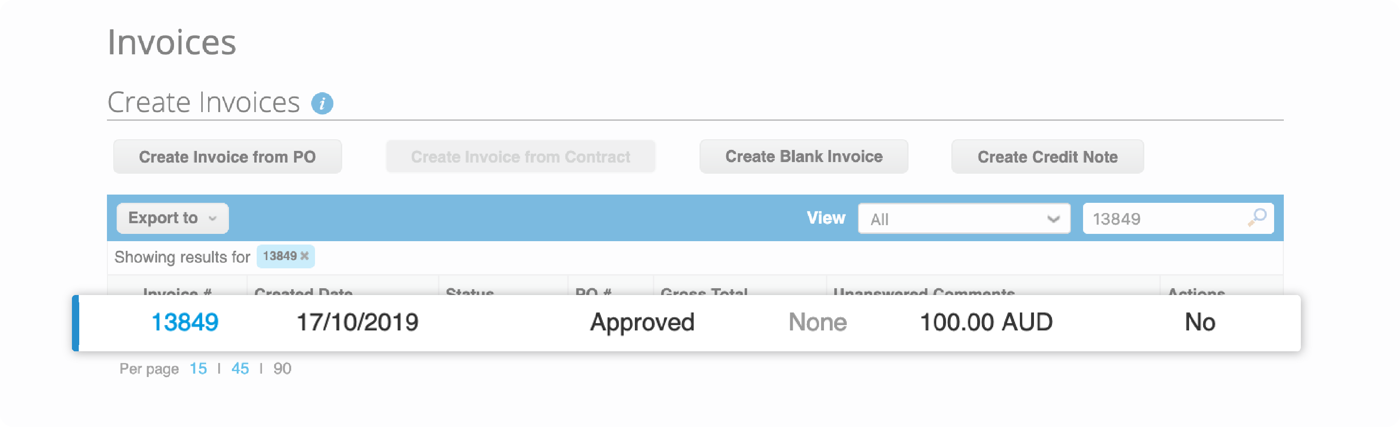 Invoice number will be displayed. Click the invoice number to check if it's already paid or not
