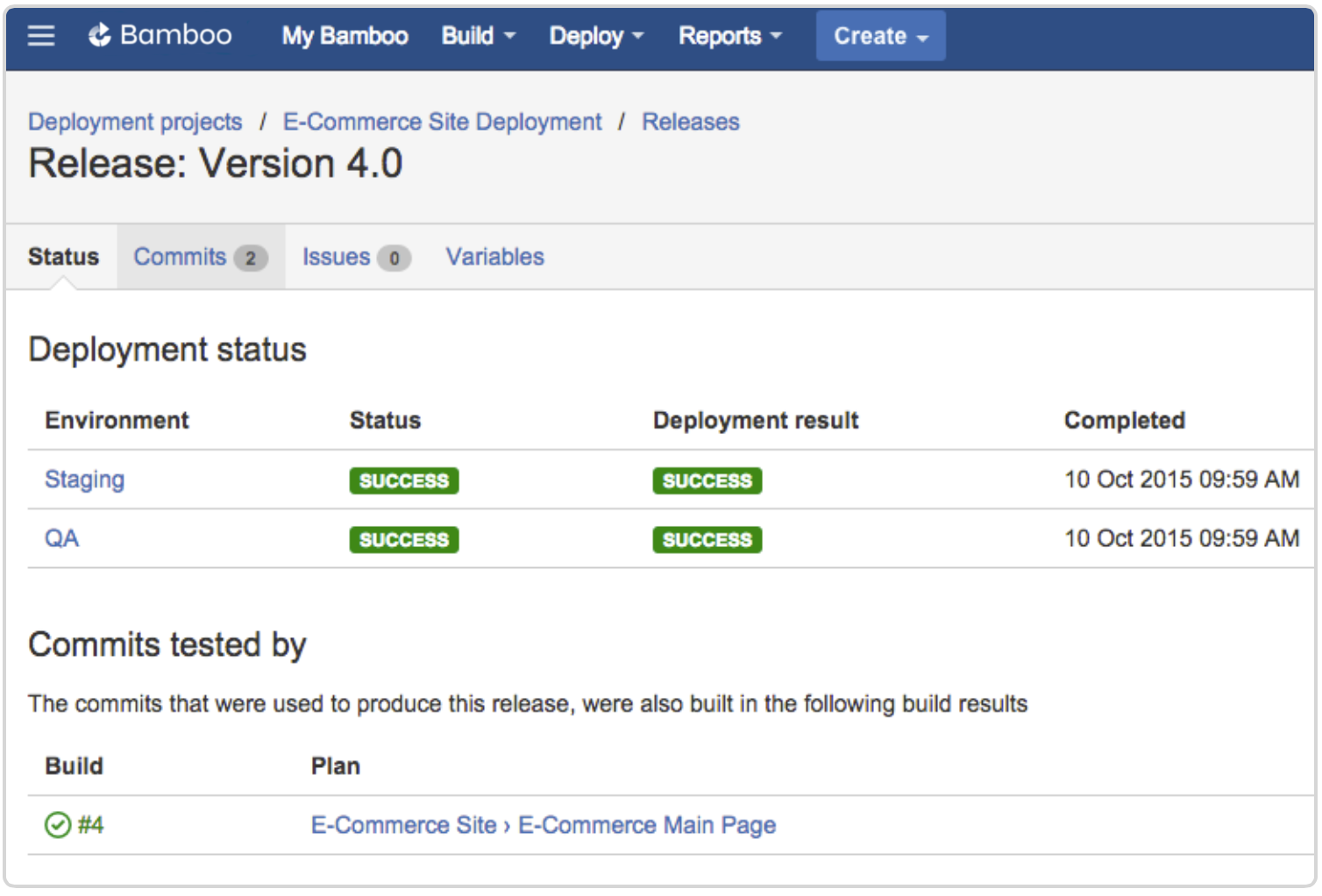 Bamboo deployment release 4.0 screenshot