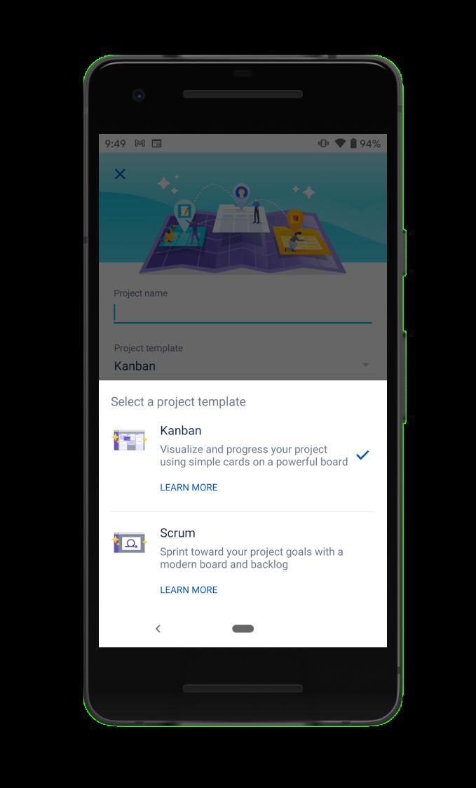 Jira Cloud 모바일 앱 프로젝트 템플릿