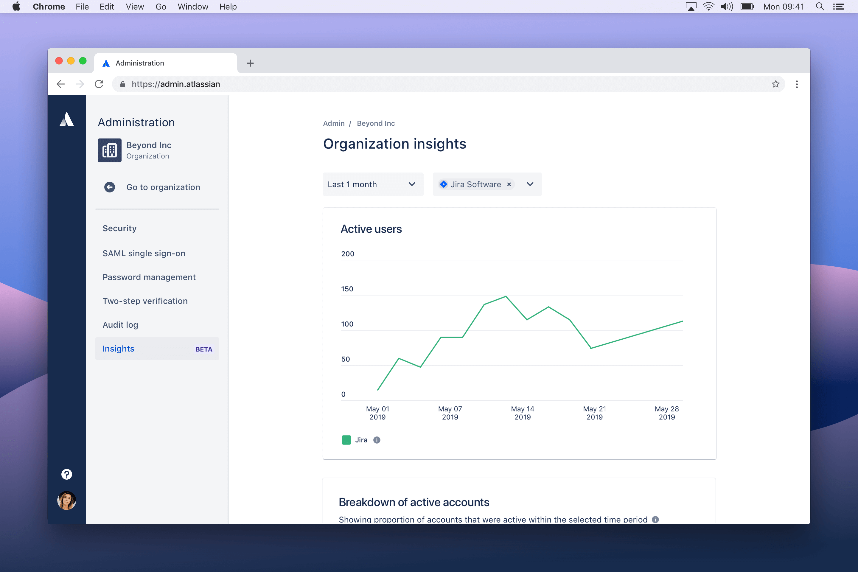 Admin insights screenshot