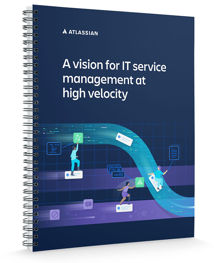 A vision for IT service management at high velocity Whitepaper cover