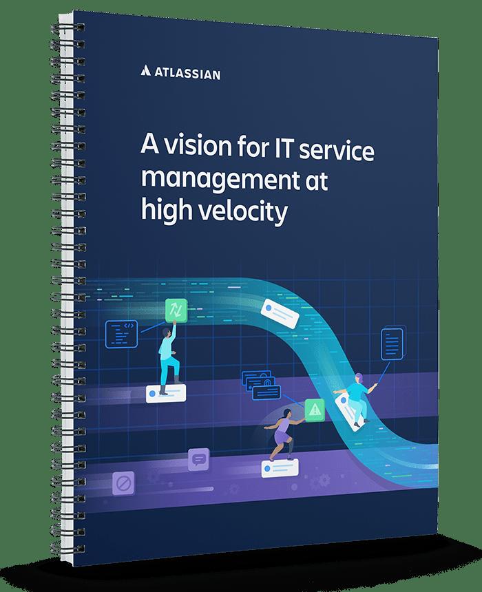 Couverture du livre blanc «Vision pour la gestion des services informatiques à grande vélocité»