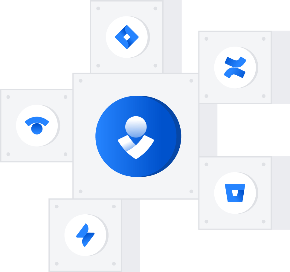 Vários produtos da Atlassian vinculados
