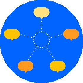 três círculos entrelaçados