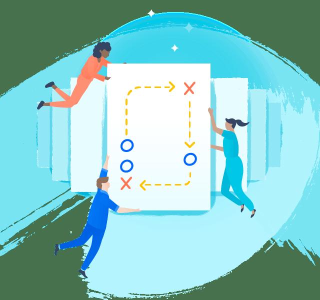 Ilustración de estrategias