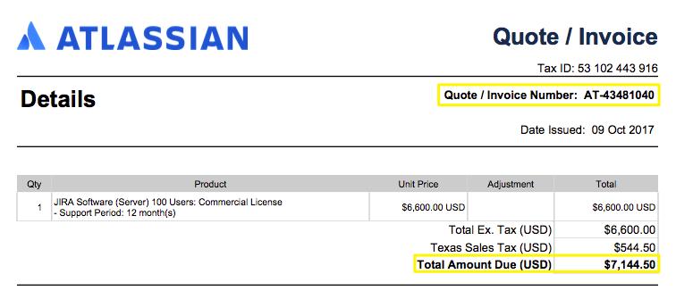 Atlassian Quote Sample