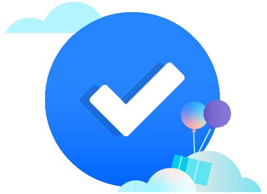 Marca de verificación en la nube