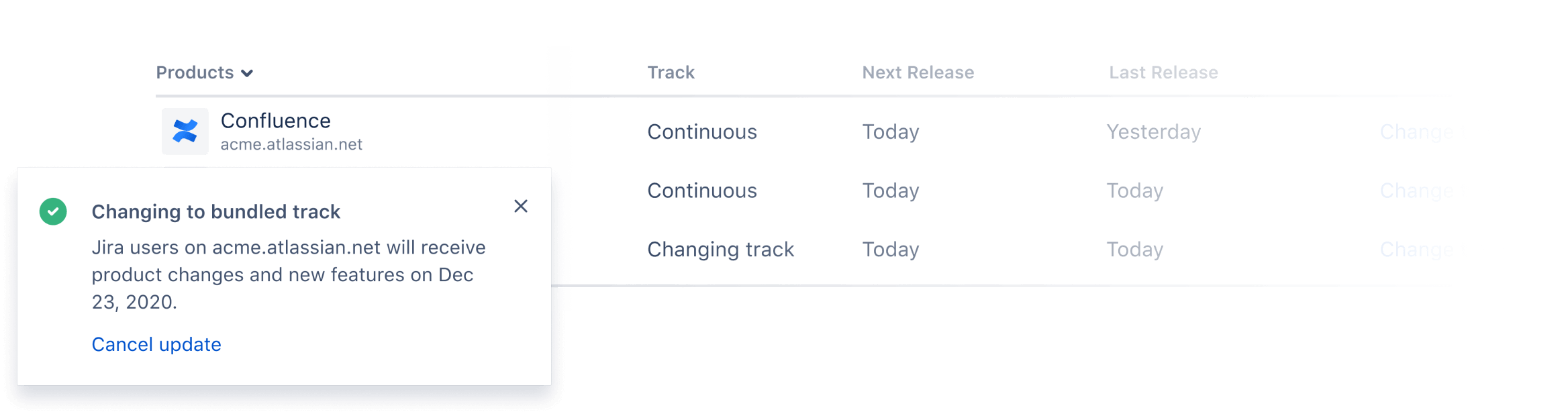 Bundled track screenshot