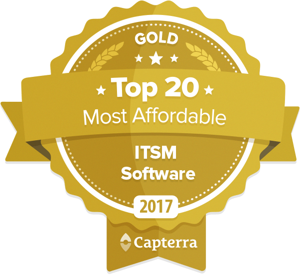 #1 on Capterra's Top 20 Most Affordable ITSM Software