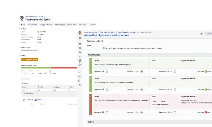 Xray Test Workflow Screenshot