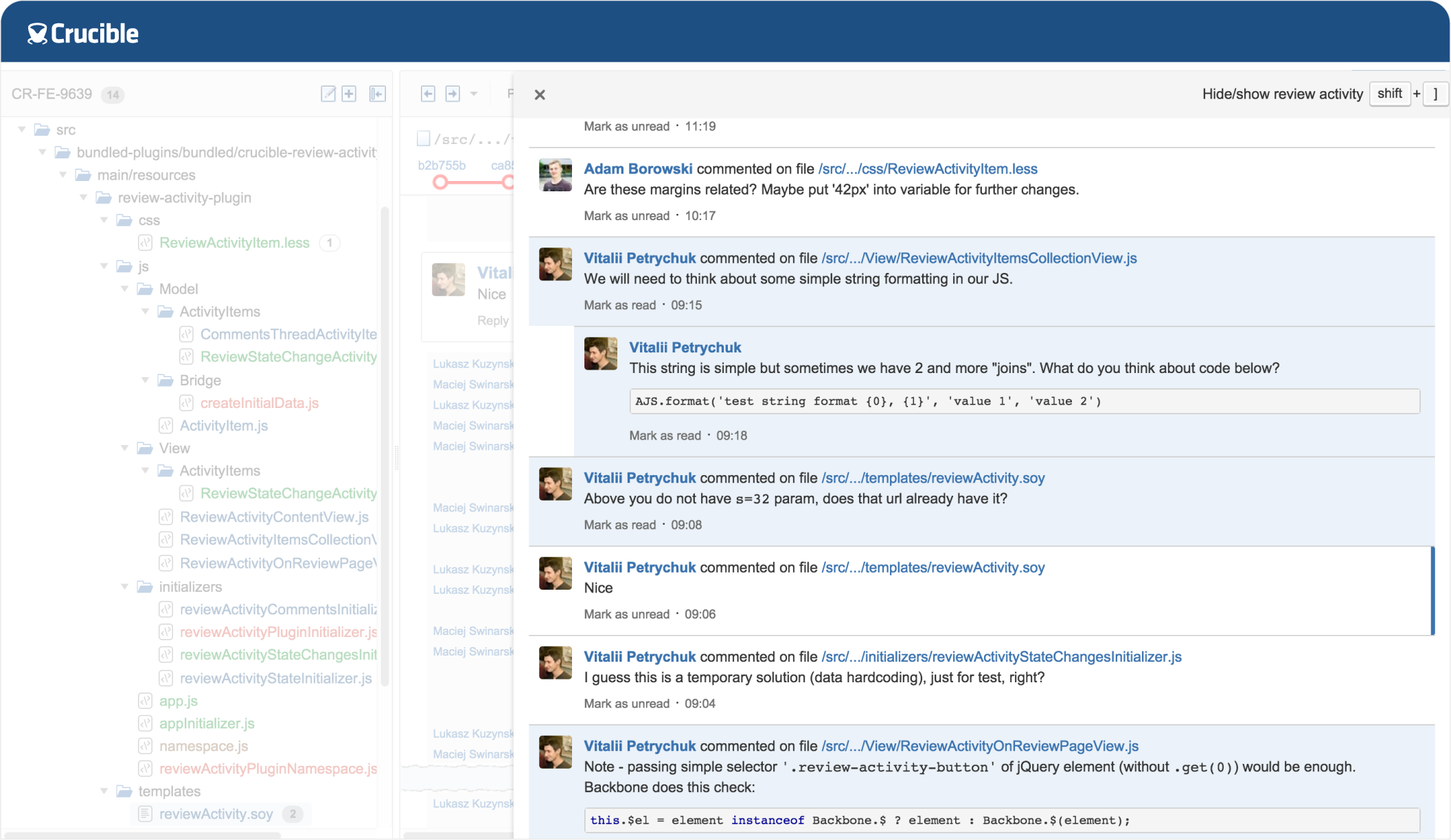 Crucible Code Review Tool for Git, SVN, Perforce and More