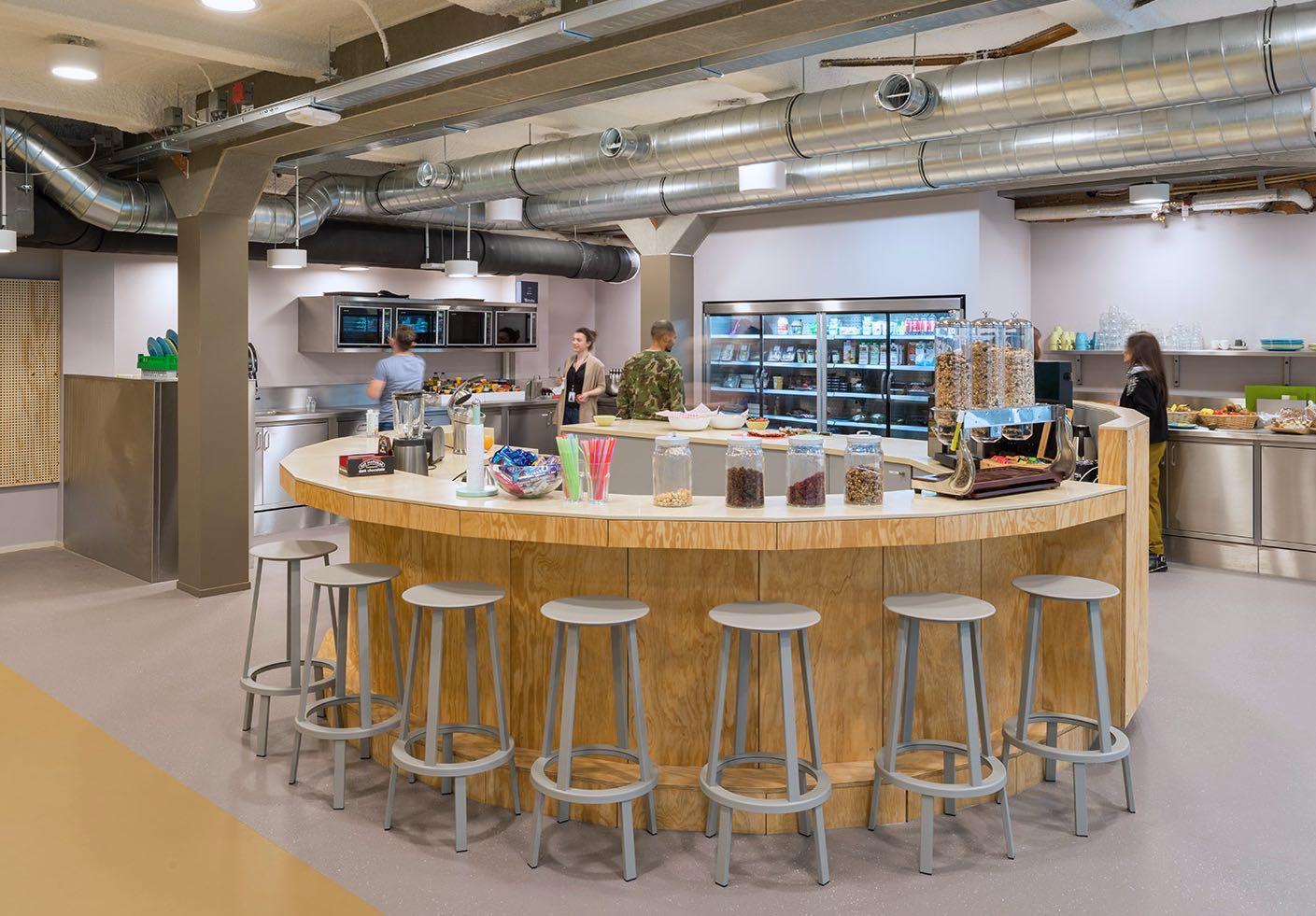 Fully stocked office kitchen
