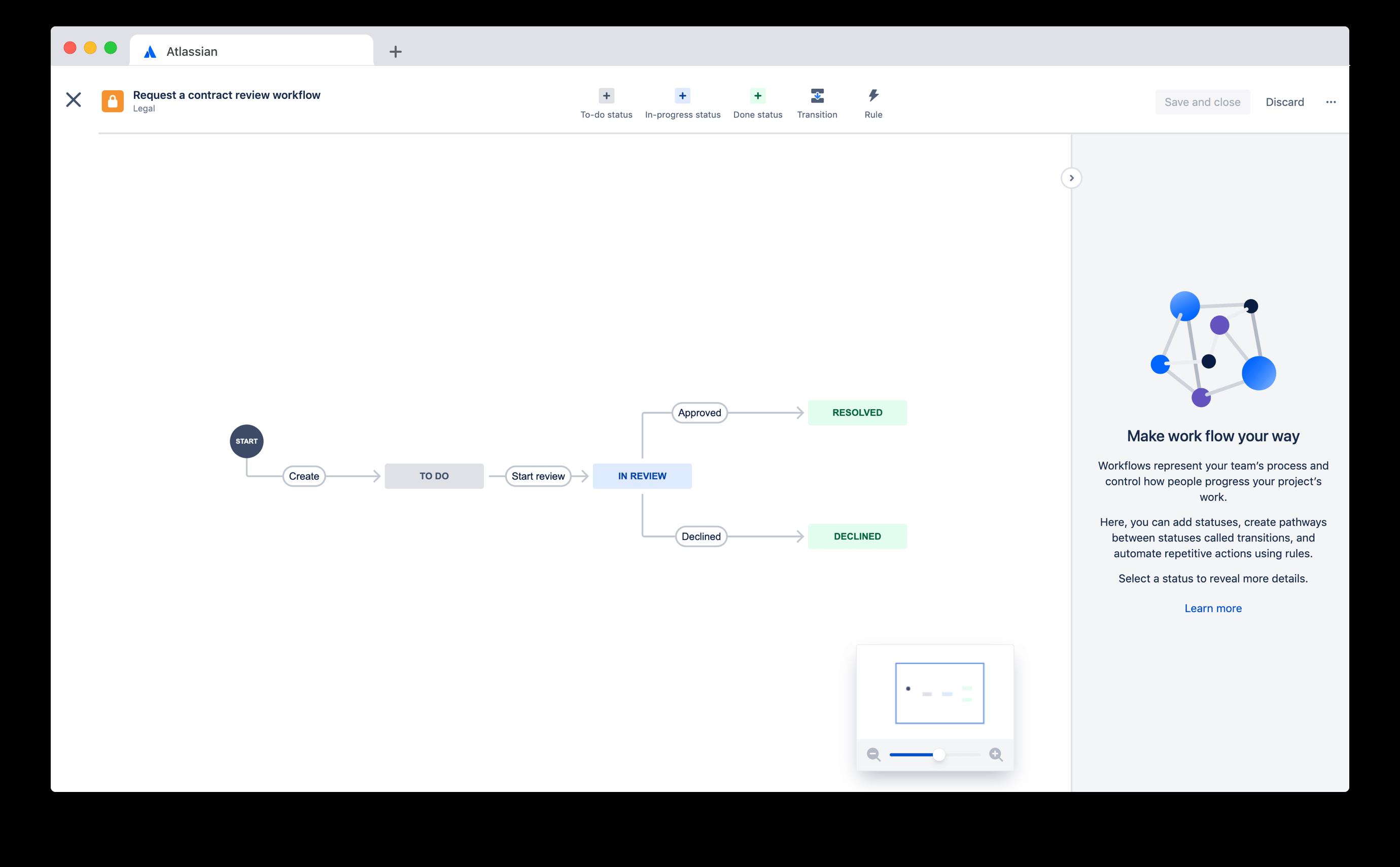 Jira Service Desk workflow