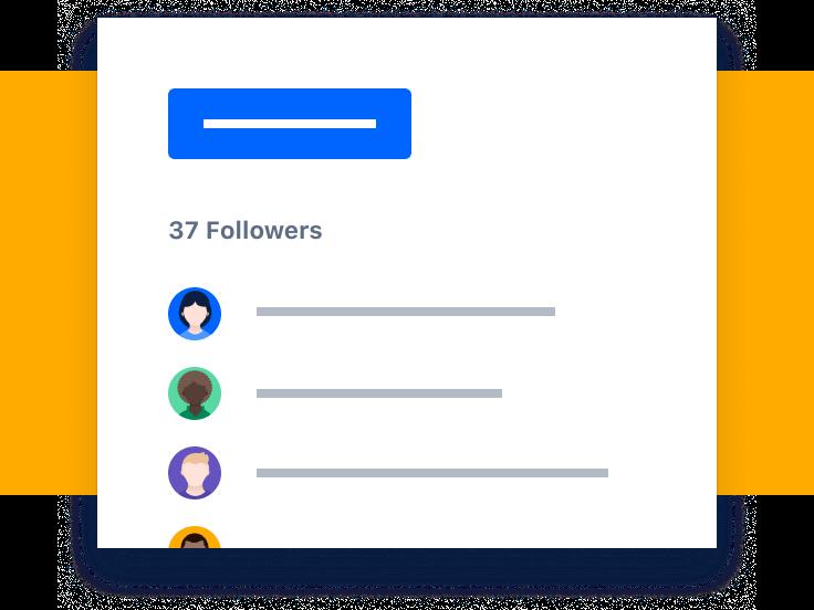 Screenshot von Followern