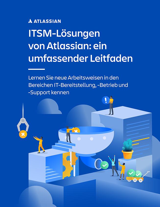 Vorschau des umfassenden Leitfadens zu den ITSM-Lösungen von Atlassian